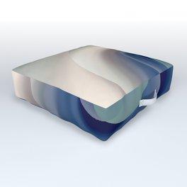 whirlwind abstract 3D digital art Outdoor Floor Cushion