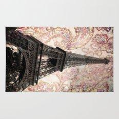 Floral Eiffel Tower Rug