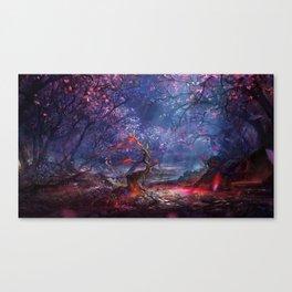Wonderful Spectacular Fairytale Mysterious Timberland UHD Canvas Print