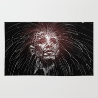 obama Area & Throw Rugs featuring Obama Fireworks by Moshik Gulst