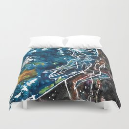 Mother Earth and Father Sky Make Love Duvet Cover