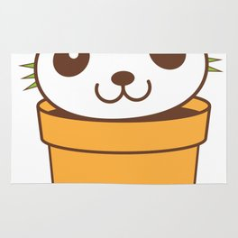 a prickly panda pot plant Rug
