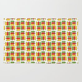 Condiments - BBQ Doodle Pattern Rug
