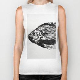 gyotaku - koi fish Biker Tank