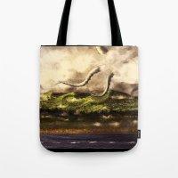 kraken Tote Bags featuring Kraken by Ryky