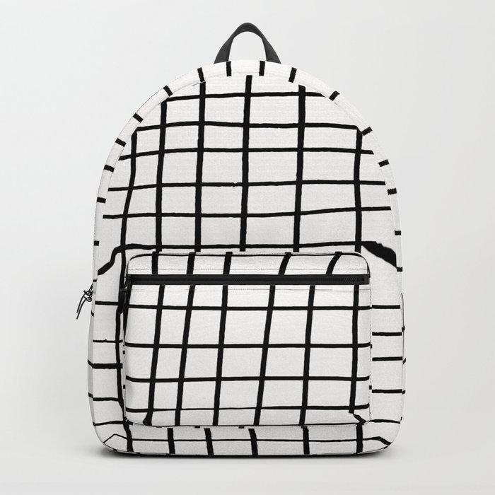 Handdrawn Grid Backpack
