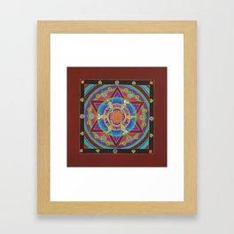Freedom Mandala Framed Art Print