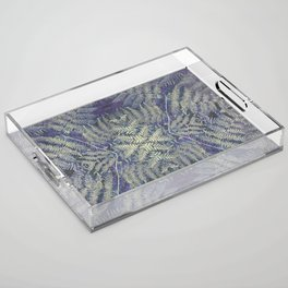 SYMMETRICAL PASTEL PURPLE BRACKEN FERN MANDALA Acrylic Tray