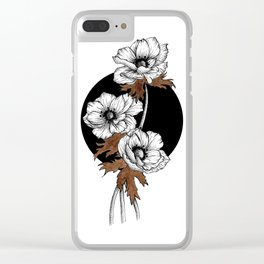 Anemone with ink II. Clear iPhone Case