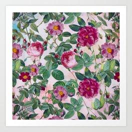 Vintage & Shabby Chic - Summer Symphony Flower Rose Garden Kunstdrucke