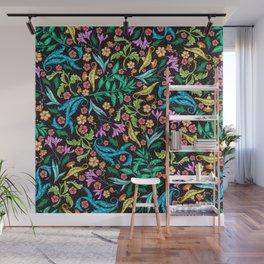 Asian Theme Lucky Genie Lantern Floral Print Wall Mural