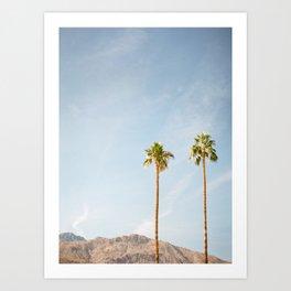 Palm Tree Pair Art Print