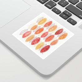 Fall Leaves Pattern Sticker
