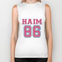 haim Biker Tanks featuring HAIM 86 by it's haim time