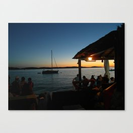 Croatian Sunset Canvas Print