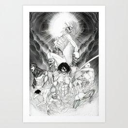 Shingeki no kyojjin AttackOnTitan  Art Print