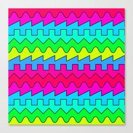 Waves // Color Canvas Print
