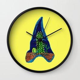 Shark Tooth Terrarium Wall Clock