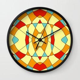 Abstract Retro Colored Symmetric Shape Wall Clock