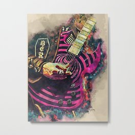 Zakk Wylde's electric guitar Metal Print