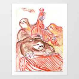 Oscar Petersloth Trio Art Print