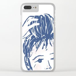 Messy bun day Clear iPhone Case