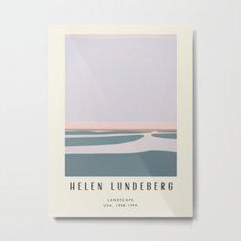 Poster-Helen Lundeberg-Landscape. Metal Print