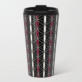 Flower of Life stripes pattern Travel Mug