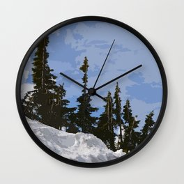WINTER SPIRES Wall Clock