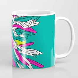 Colorful bold flourescent vibrant floral design Coffee Mug