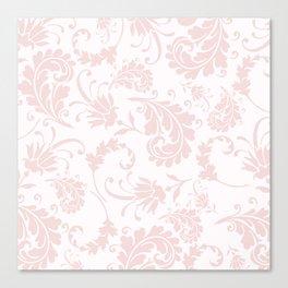Vintage blush pink elegant floral damask Canvas Print