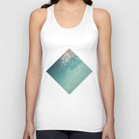 physics Tank Tops featuring Fresh summer abstract background. Connecting dots, lens flare by AMULET