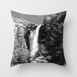 Thundering Waters Of Bridal Veil Falls  Throw Pillow