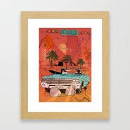 Miami Vibes Framed Art Print