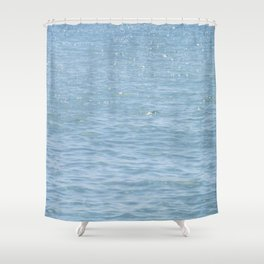 Blue Sparkle Shower Curtain