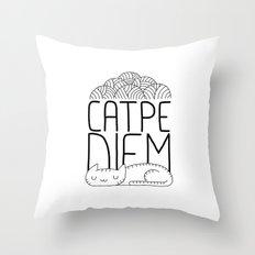 CATPE DIEM Throw Pillow