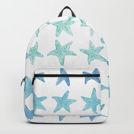 Blue Watercolor Starfish Backpack
