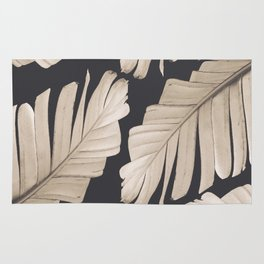Sepia Banana Leaves Dream #1 #foliage #decor #art #society6 Rug