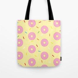 Donut Delux Sprinkles Pattern Tote Bag
