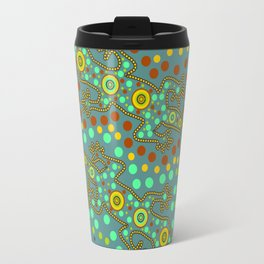 Lizards- aboriginal art Travel Mug