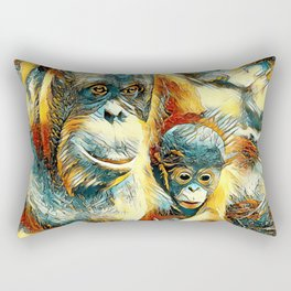 AnimalArt_OrangUtan_20170910_by_JAMColorsSpecial Rectangular Pillow