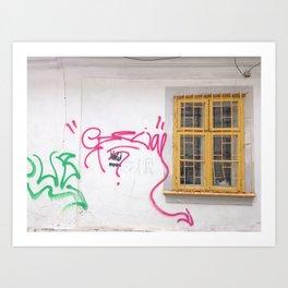 Cluj Graffiti #2 Art Print