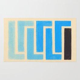 Baby Blue Geometric Pattern Rug
