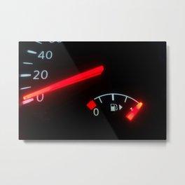 Fuel Gauge, Full Tank, Car Fuel Display Metal Print