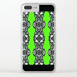 black and green Clear iPhone Case
