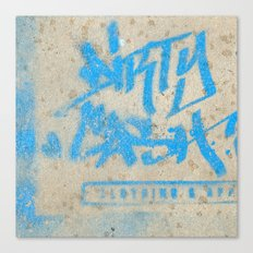 DIRTY CASH - TAGGING STREETART MIAMI by Jay Hops Canvas Print