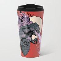 2001 Travel Mugs featuring Godzilla 2001 by Leonardo LAGONZA Gonzalez