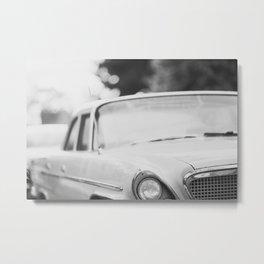 Vintage Car Close Up Metal Print