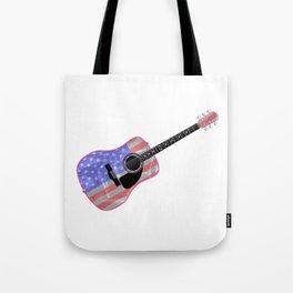 Stars and Stripes Guitar Tote Bag