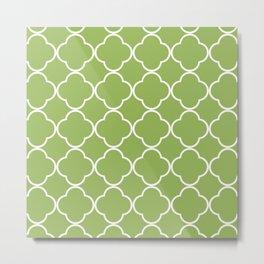Quatrefoil greenery Metal Print